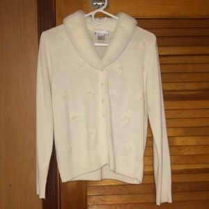 button up cardigan :) in white